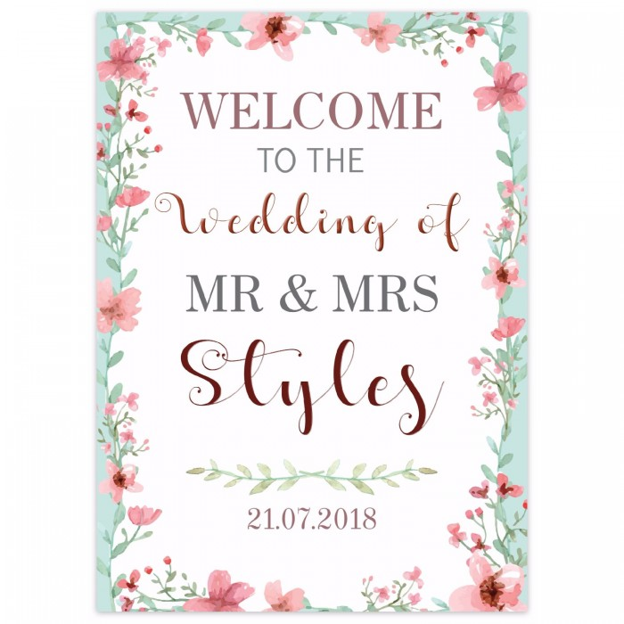 Pastel Small Welcome Sign