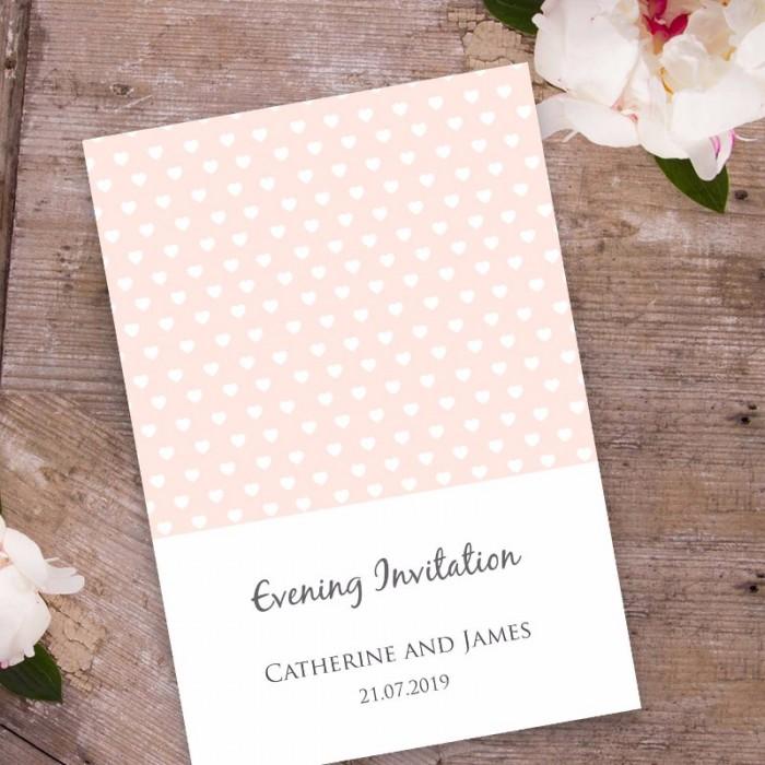 peach polka dot evening invitation paper themes wedding invites