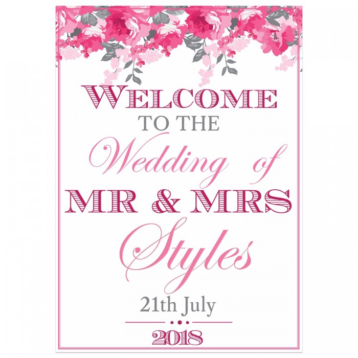 Peonies Small Welcome Sign