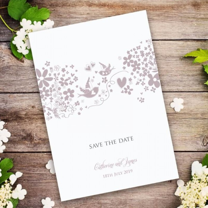 Blackbirds Save the Date Card