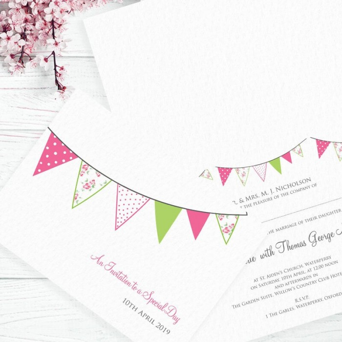 Pink Wedding Fete Wedding Invitation | Paper Themes Wedding Invites