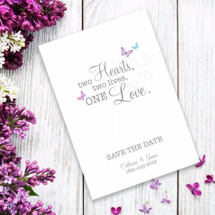 Two Become One Save the Date Card