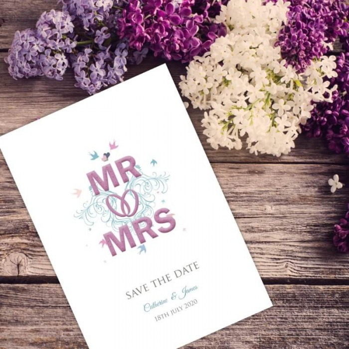 With This Ring Save the Date Card