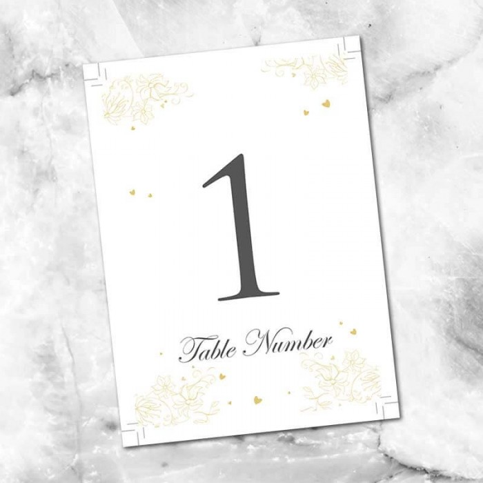 Precious Moments Table Numbers