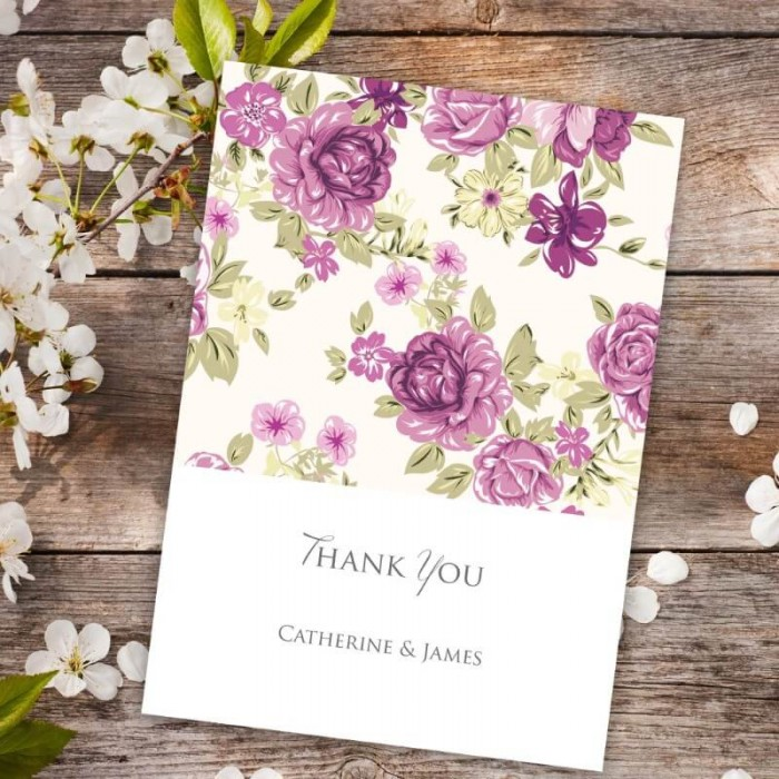 Bouquet Thank You Card