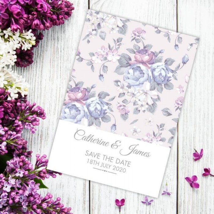 Happiness Flowers Save the Date Card