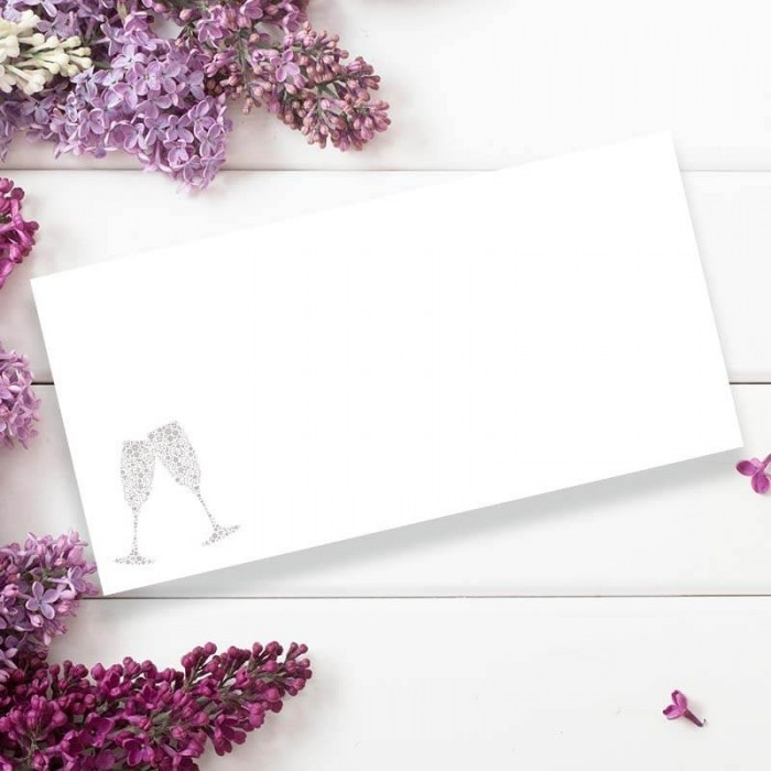 Raise Your Glasses Wedding Place Card