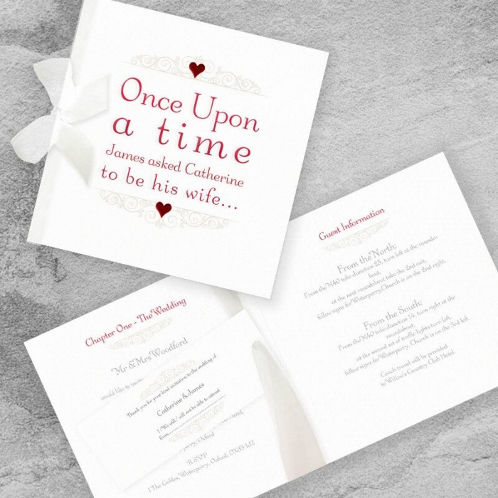 Once Upon A Time Wedding Invitation | Paper Themes Wedding Invites