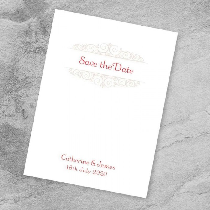 Once Upon A Time Save the Date Card