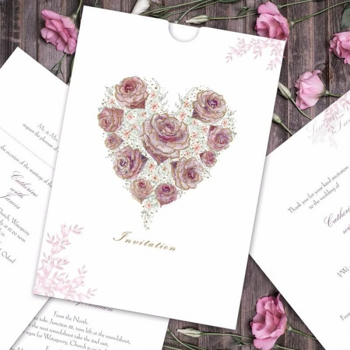 Radiant Rose Wedding Invitation