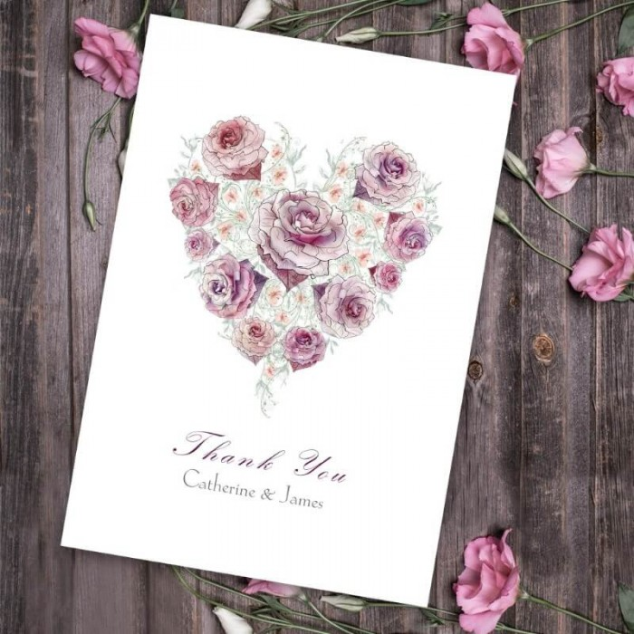 Radiant Rose Thank You Card