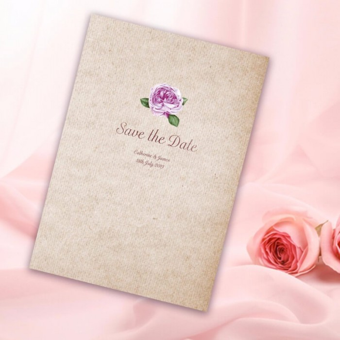 Rosebud Save the Date Card