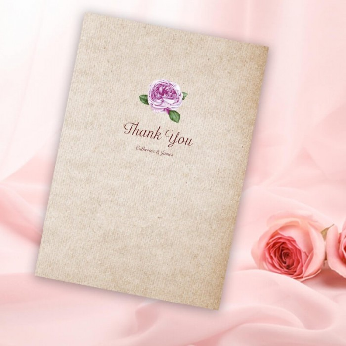 Rosebud Thank You Card