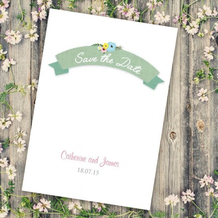 Marriage Vows Save the Date Card