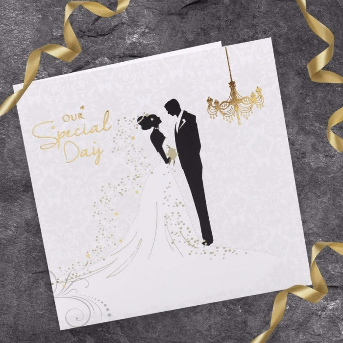 Bride & Groom Wedding Invitation | Paper Themes Wedding Invites