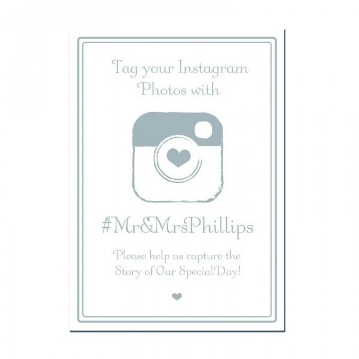 Signature Silver Instagram Sign