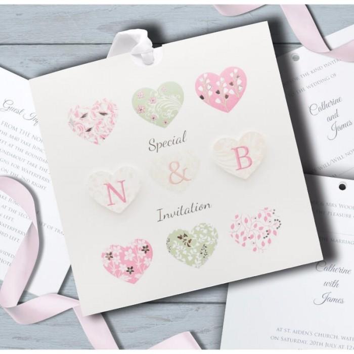 Special hearts Wedding Invitation