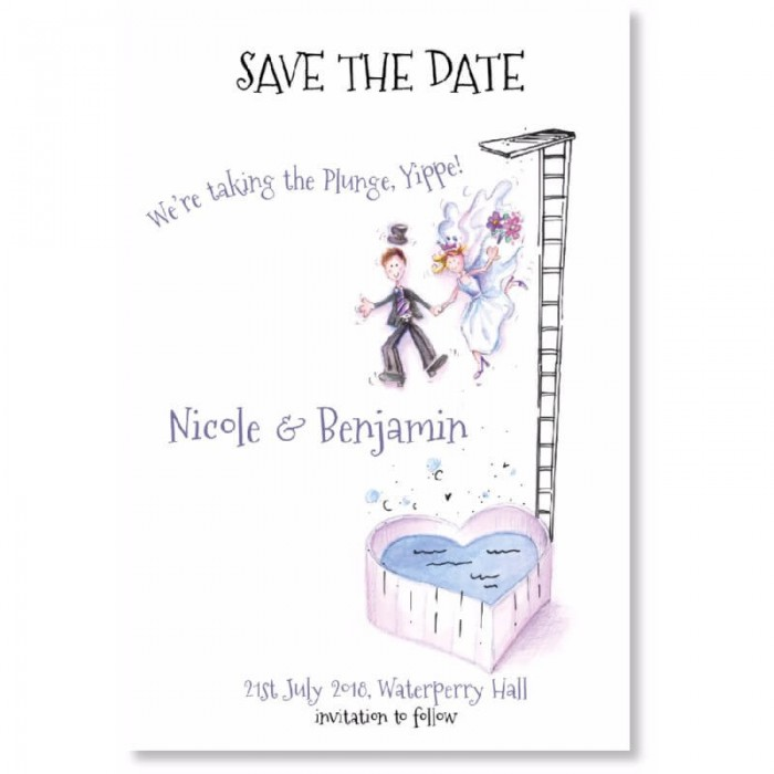 Taking The Plunge Save the Date Card