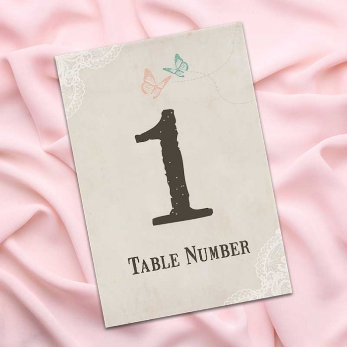 Truly Madly Deeply Table Numbers - Pack of 10