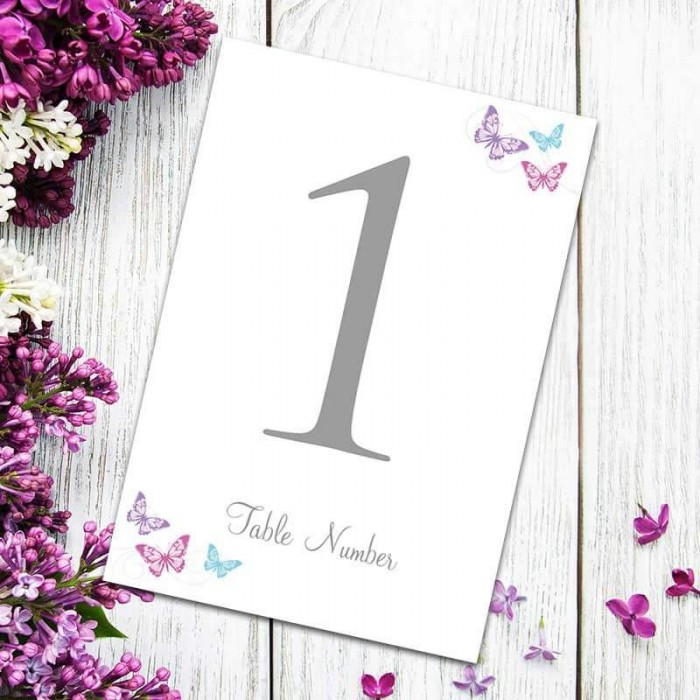 Two Become One Table Numbers - Pack of 10