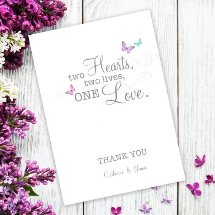 Two Become One Thank You Card