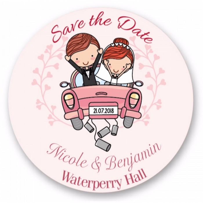 Wedding Couple Save the Date Coaster