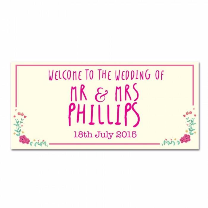 Whimsical Wedding Banner