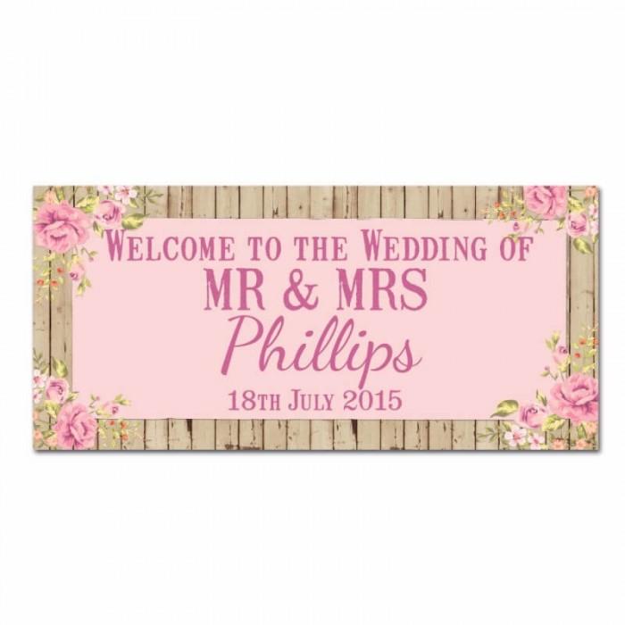 Wooden Wedding Banner