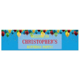 Balloon Confetti Welcome Banner
