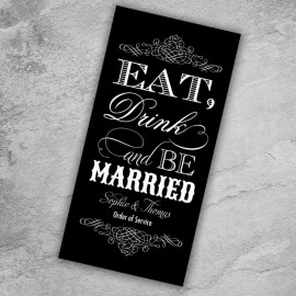Black Eat Drink & Be Married Order of Service