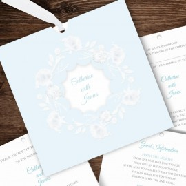 Blue Graceful Wedding Invitation