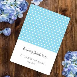 Blue Polka Dot Evening Invitation