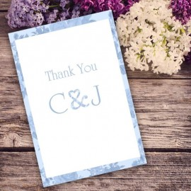 Blue Vintage Charm Thank You Card