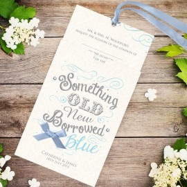 Old New Borrowed Blue Wedding Invitation