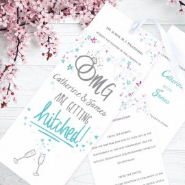 Getting Hitched Wedding Invitation