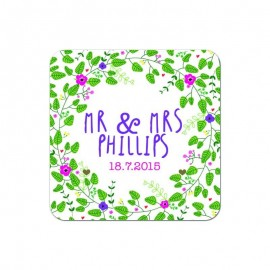 Bohemian Wedding Coaster - Pack of 24