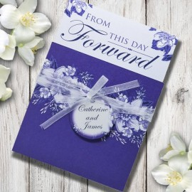 Purple Flowers Wedding Invitation