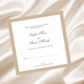 Caramel Diamante Buckle RSVP Card