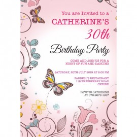 Butterflies Birthday Party Invitation