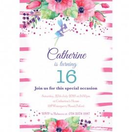 Fairies Birthday Party Invitation
