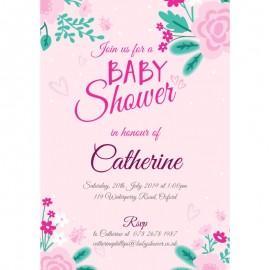 Floral Shower Baby Shower Invitation