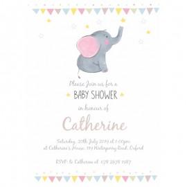 Little Elephant Baby Shower Invitation