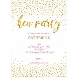 Sparkles Hen Party Invitations