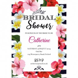 Floral Fun Bridal Shower Invitations