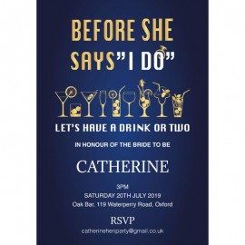 One or Two Hen Party Invitations