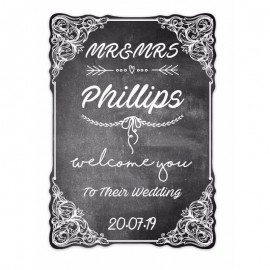 Chalkboard Shaped Welcome Sign