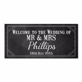 Chalkboard Wedding Banner