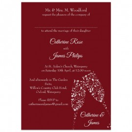Champagne Flutes Wedding Invitations
