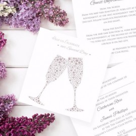 Raise Your Glasses Wedding Invitation