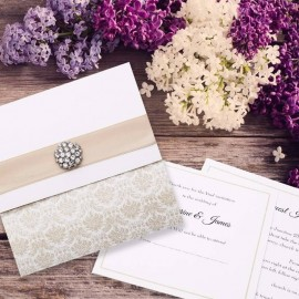 Champagne Eternity Wedding Invitation
